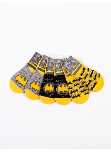 Batman  Lisanslı 6 Çift Çocuk Sneakers Çorap 18199 Sarı